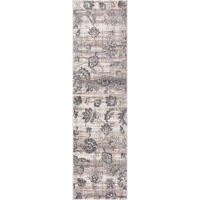 Kershner Petals Ivory Area Rug Rug Size: Runner  2 x 73