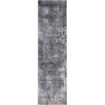Mcgrane Abstract Blue Area Rug Rug Size: Runner  2 x 73