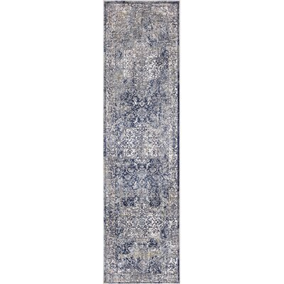 Pleasant Avenue Heriz Blue Area Rug Rug Size: Runner  2 x 73