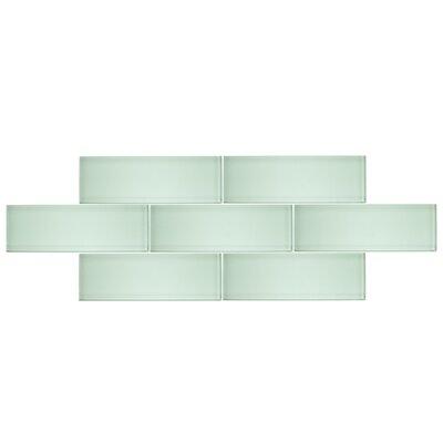 4 x 12 Glass Subway Tile in Seafoam