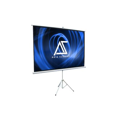 Akia 8K/4K Ultra HD 3D Ready Indoor/Outdoor Tripod White 100 Portable Projector Screen
