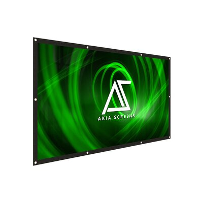 Akia DIY 8K/4K Ultra HD 3D Ready Indoor/Outdoor White 120 Portable Projector Screen