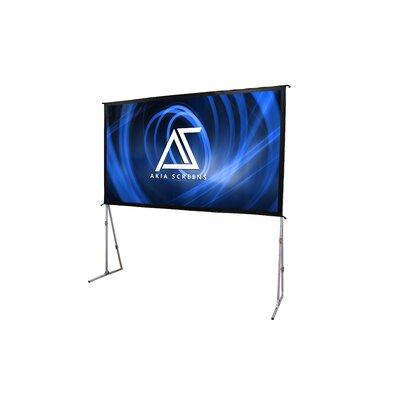 Akia 8K/4K Ultra HD 3D Ready Adjustable Height Indoor/Outdoor Easy Snap Aluminum Frame White Portable Projector Screen Viewing Area: 71 H x 126.5 W