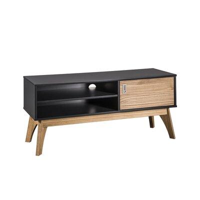 "Tebikerei 43"" TV Stand Color: Dark Gray/Natural Wood 96D16101B9314011957998AF90890BC0"
