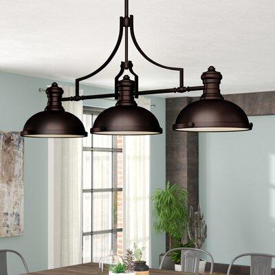 Westlake Village 3-Light LED Kitchen Island Pendant Finish: Oiled Bronze