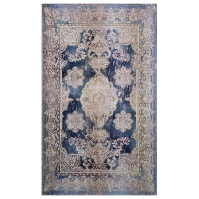 One-of-a-Kind Kimes Blue/Beige Area Rug