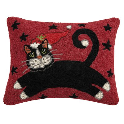 Massie Holiday Cat Wool Lumbar Pillow