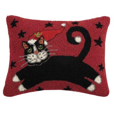 Massie Holiday Cat Wool Lumbar Pillow