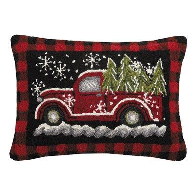 Masson Red Plaid Wagon Wool Lumbar Pillow