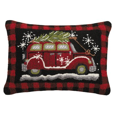 Massie Holiday Plaid Car Wool Lumbar Pillow