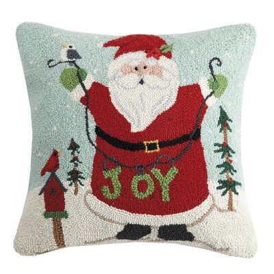 Maskell Happy Santa Joy Wool Throw Pillow