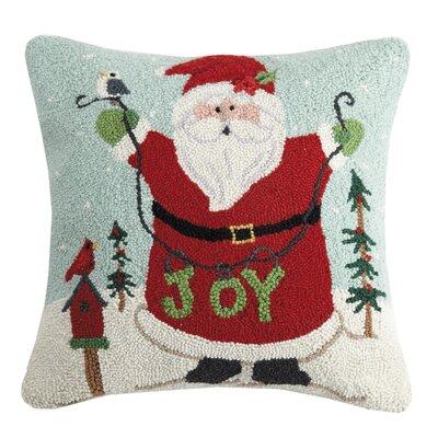 Maskell Happy Santa Joy Wool Throw Pillow