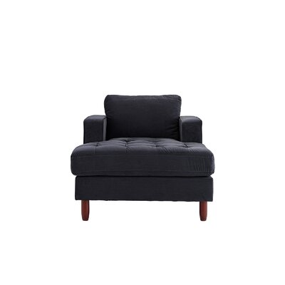 Eastep Chaise Lounge Upholstery : Black