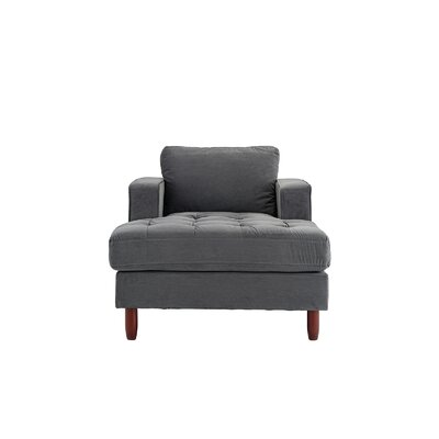 Eastep Chaise Lounge Upholstery : Gray