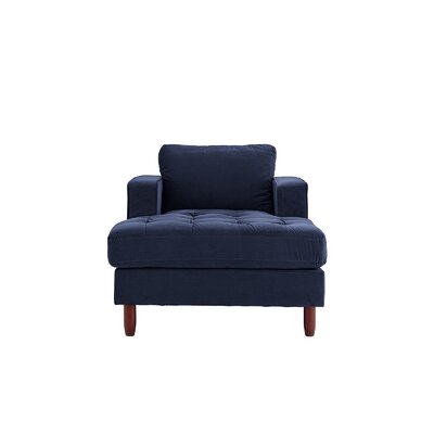 Eastep Chaise Lounge Upholstery : Navy