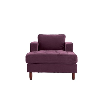 Eastep Chaise Lounge Upholstery : Purple