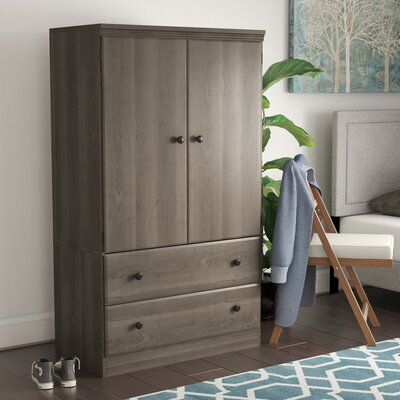 Preciado Traditional Armoire Finish: Gray Maple