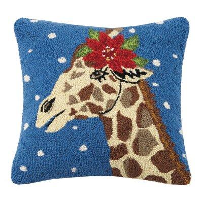 Mastrangelo Snowy Giraffe Wool Throw Pillow