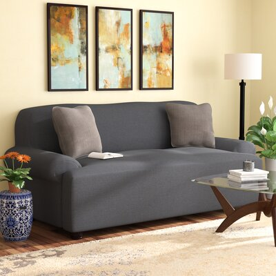 T-cushion Sofa Slipcover Upholstery: Gray