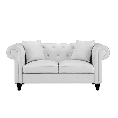 Antonie Chesterfiled Loveseat Upholstery : White