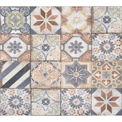 Havana 8 x 8 Porcelain Field Tile in Finca Deco Mix