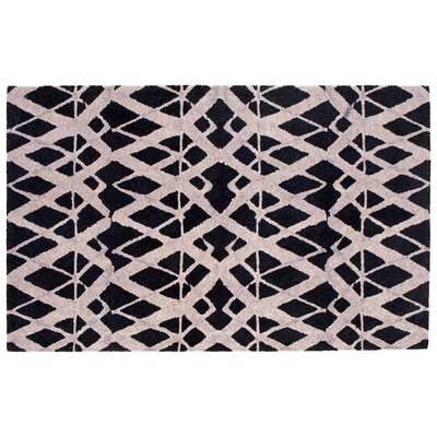 Tribeca Black Area Rug Rug Size: Rectangle 5 x 8
