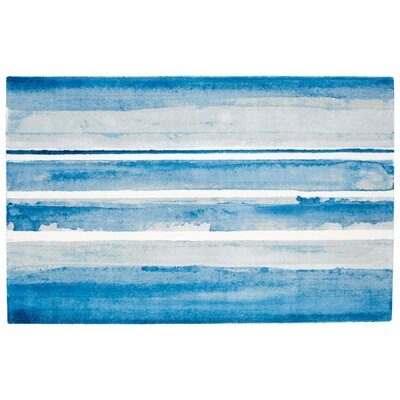 Azure Blue Area Rug Rug Size: Rectangle 5 x 8