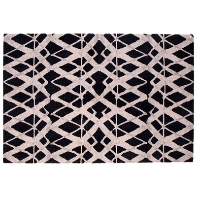 Tribeca Black Area Rug Rug Size: Rectangle 6 x 9