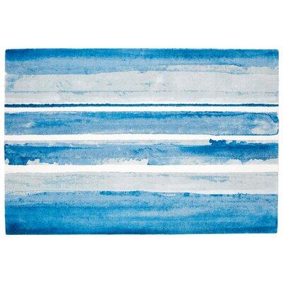 Azure Blue Area Rug Rug Size: Rectangle 6 x 9