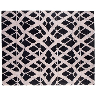 Tribeca Black Area Rug Rug Size: Rectangle 8 x 10
