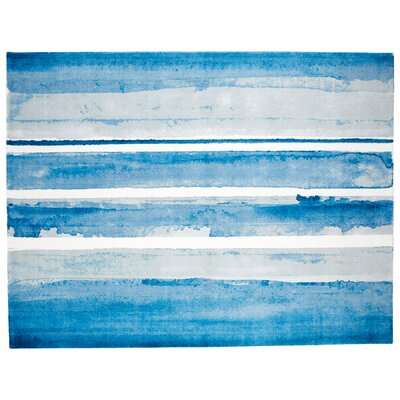Azure Blue Area Rug Rug Size: Rectangle 9 x 12