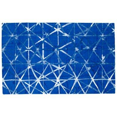 Shibori Weave Blue Area Rug Rug Size: Rectangle 5 x 8