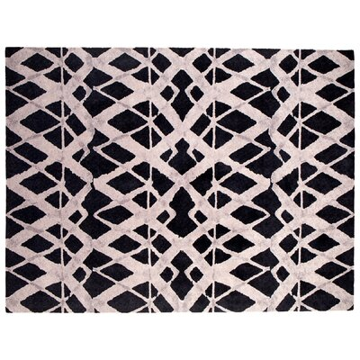 Tribeca Black Area Rug Rug Size: Rectangle 9 x 12