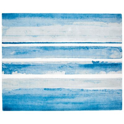 Azure Blue Area Rug Rug Size: Rectangle 8 x 10