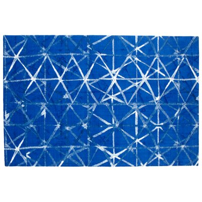 Shibori Weave Blue Area Rug Rug Size: Rectangle 6 x 9