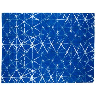 Shibori Weave Blue Area Rug Rug Size: Rectangle 9 x 12