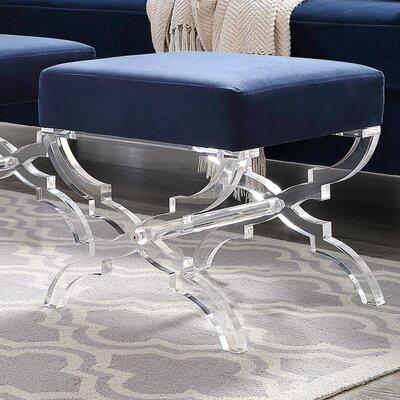Sagamore X-Leg Ottoman Upholstery: Navy