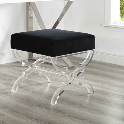 Sagamore X-Leg Ottoman Upholstery: Black