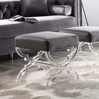 Sagamore X-Leg Ottoman Upholstery: Gray