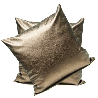 Anderle Faux Leather Throw Pillow Color: Brown