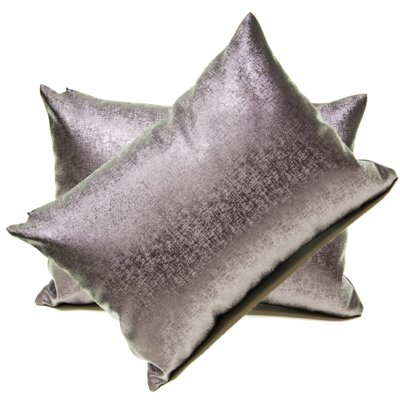 Andreana Faux Leather Lumbar Pillow Color: Purple