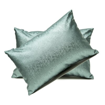 Andreana Faux Leather Lumbar Pillow Color: Teal