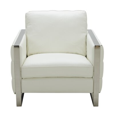 Hewins Club Chair Upholstery: White