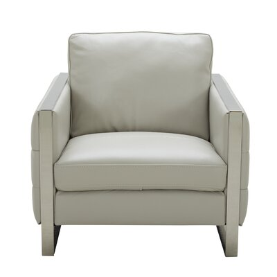 Hewins Club Chair Upholstery: Light Gray