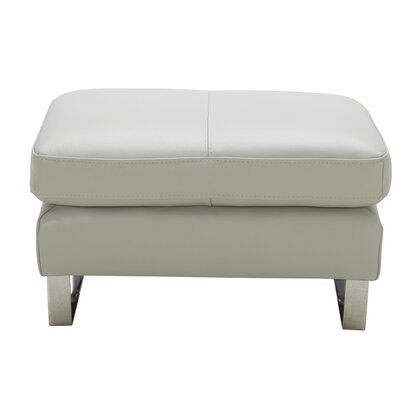 Hewins Leather Ottoman Upholstery: Light Gray