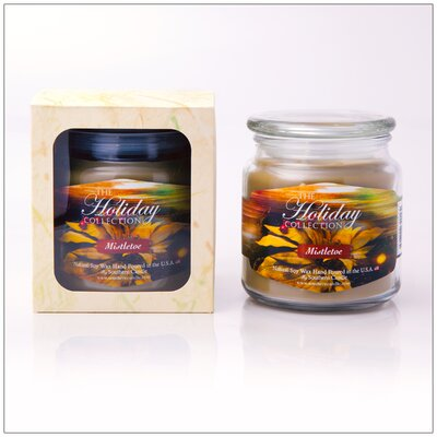 Holiday Mistletoe Scented Jar Candle 696766340162