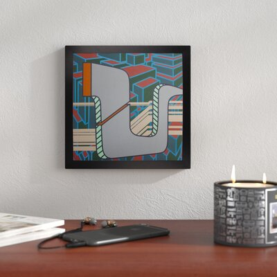 "'2013 Lines Project 50' Graphic Art Print Size: 7.82"" H x 7.96"" W x 2"" D, Format: Affordable Black Large Framed Paper 7E470256426343FE8D068991587F49C1"
