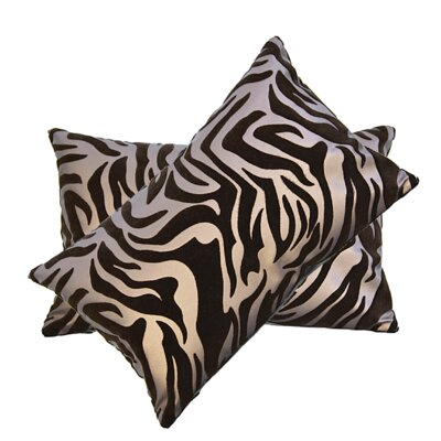 Mechling Flocked Faux Leather Lumbar Pillow Color: Brown