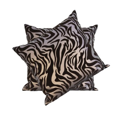 Medders Flocked Faux Leather Throw Pillow Color: Brown