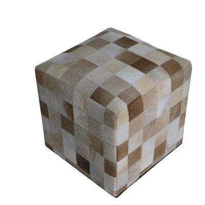 Golson Geometric Hide Pouf